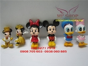 BỘ MICKEY + MINNIE + DONALD (6C)